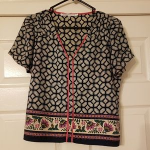 Cute Patterned Crop Top Size XS
